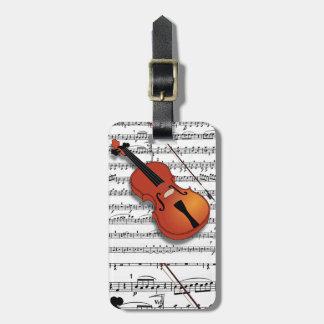 Violin Lover_Luggage Tag