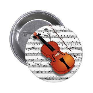 Violin Lover_ Pinback Button