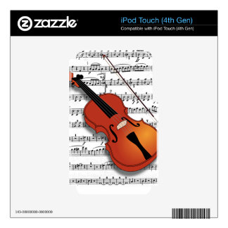 Violin Lover_ Skin For iPod Touch 4G