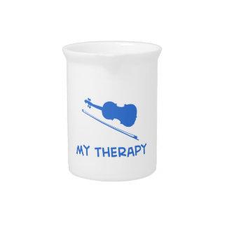 Violín mi terapia jarron