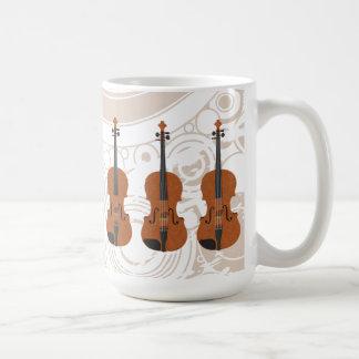 Violín modelo 3D Taza de café