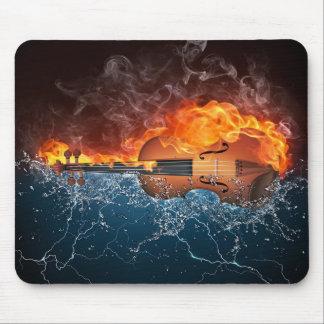 Violín Mousepad del fuego y del agua Alfombrillas De Raton