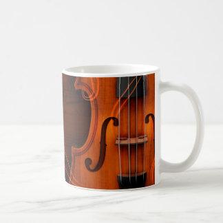 Violin Classic White Coffee Mug
