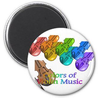 Violin music 2 inch round magnet