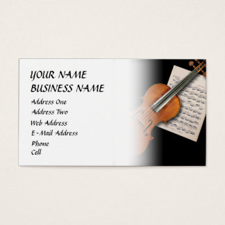 Violin - Music Business Card