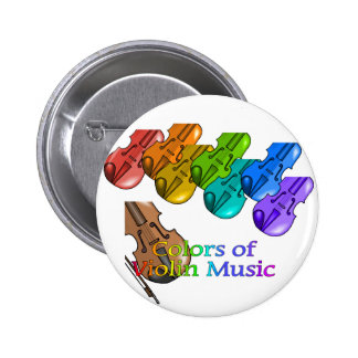 Violin music pinback buttons
