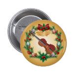 Violin Music Christmas Wreath Musician Gift Pins