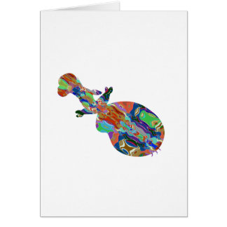 VIOLIN Music Insrument Abstract Colorful Art fun Greeting Card