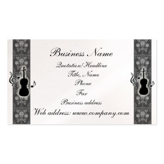 Violin Music Notes Business Card