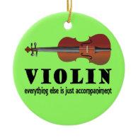 Violin Music Quote Ornament Gift