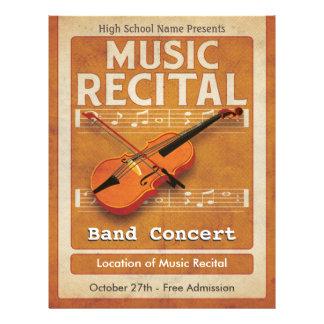 Violin Music Recital Flyer