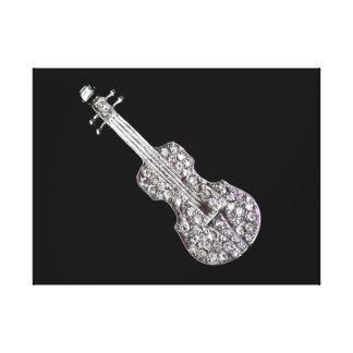Violin music symbol canvas print