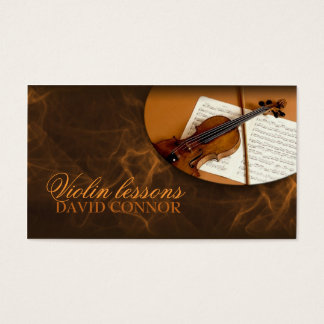 Violin Music Teacher Classic Business Card