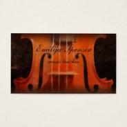 Violin Music Tutor Classy Business Card at Zazzle