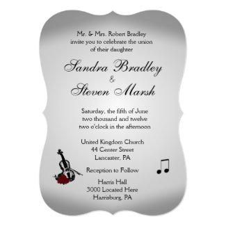 Violin Music Wedding 5x7 Paper Invitation Card