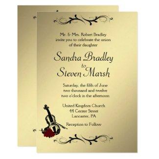 Violin Music Wedding Invitation 5