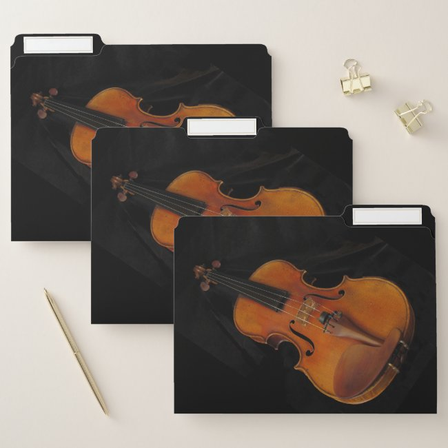 Violin Musical Instrument File Folder Set