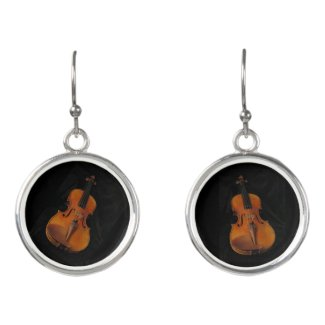 Violin Musical Instruments Drop Earrings