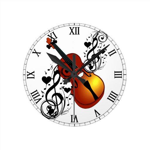 Violin,My Love_ Round Clocks