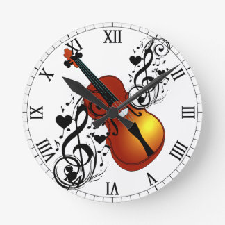 Violin,My Love_ Round Clock