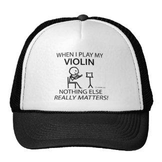 Violín, nada materias otras gorras