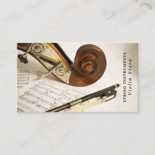 Violin Note Sheet Musician Music Industry Business Card