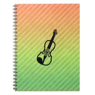 Violin Spiral Note Book