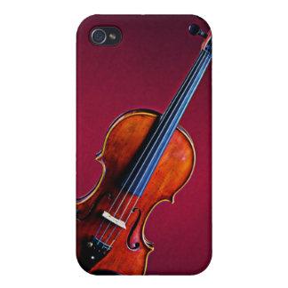 Violín o caja de la mota de Iphone de la viola iPhone 4 Funda