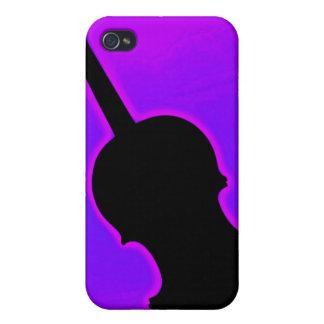 Violín o caja de la mota de Iphone de la viola iPhone 4 Cobertura
