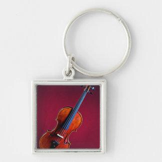 Violín o llavero o llavero cuadrado de la viola