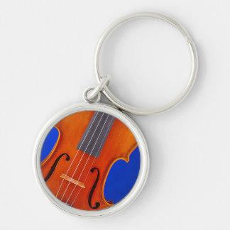 Violín o llavero o llavero redondo de la viola
