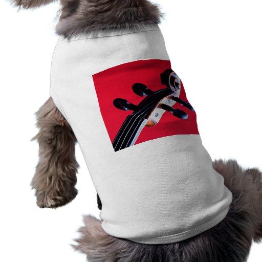 Violín o ropa del mascota del perro o del gato de  playera sin mangas para perro