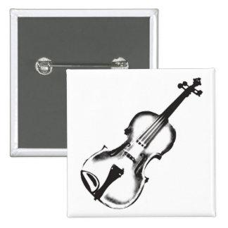 "Violín o violín ""dibujo "" pin cuadrado"