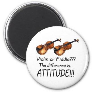 ¿Violín o violín??? Imán Redondo 5 Cm
