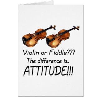 ¿Violín o violín??? Tarjeta De Felicitación