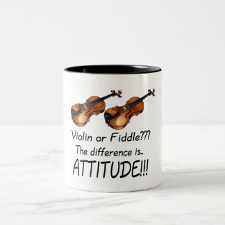 ¿Violín o violín??? Taza De Dos Tonos