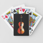 Violin on Charcoal Background Bicycle Poker Cards