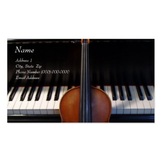 Violin on Piano Business Card