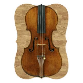 "Violin on Wood Panels Recital Invitation 5"" X 7"" Invitation Card"