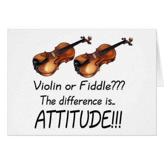 Violin or Fiddle??? Card