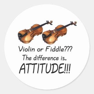 Violin or Fiddle??? Classic Round Sticker