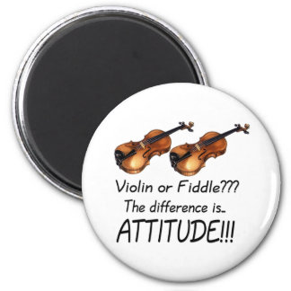 Violin or Fiddle??? 2 Inch Round Magnet