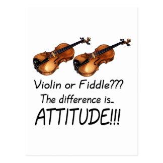 Violin or Fiddle??? Postcard