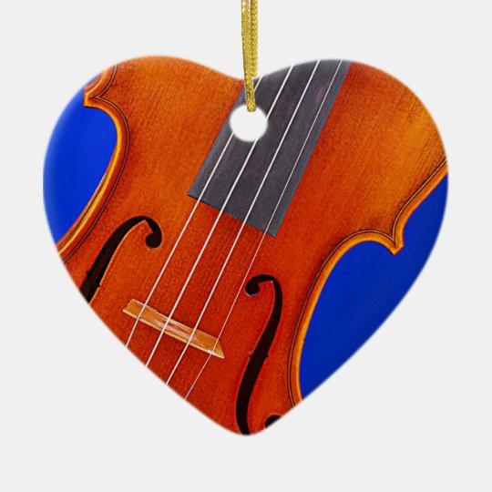 Violin or Viola Ornament Heart