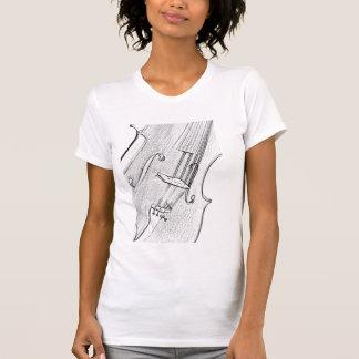 Violin or Viola Shirt Line Drawing