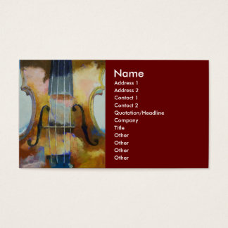 Violin Painting Business Card
