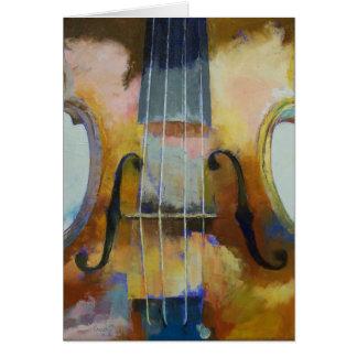 Violin Painting Card