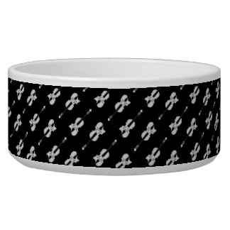 Violin Pattern - Black and White Bowl