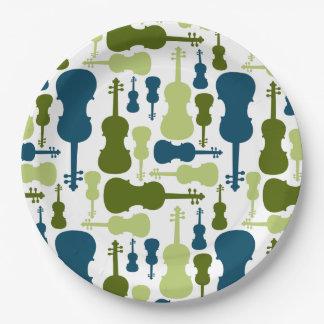 Violin Pattern Paper Plate