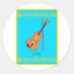 violín pegatinas redondas